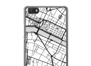 Pon un mapa de ciudad en tu funda para Ascend P8 lite (2016)