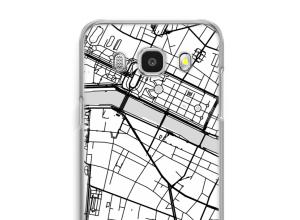 Pon un mapa de ciudad en tu funda para Galaxy J7 (2016)