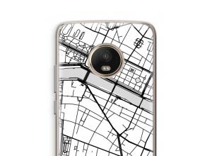 Pon un mapa de ciudad en tu funda para Moto G5 Plus