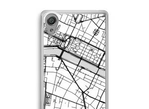 Pon un mapa de ciudad en tu funda para Xperia XA1