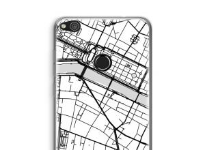 Pon un mapa de ciudad en tu funda para Ascend P8 Lite (2017)