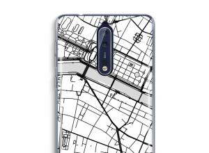 Pon un mapa de ciudad en tu funda para Nokia 8