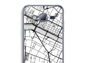 Pon un mapa de ciudad en tu funda para Galaxy J3 (2016)