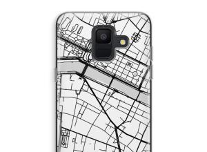 Pon un mapa de ciudad en tu funda para Galaxy A6 (2018)