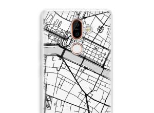 Pon un mapa de ciudad en tu funda para Nokia 7 Plus