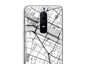 Pon un mapa de ciudad en tu funda para OnePlus 6