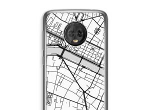 Pon un mapa de ciudad en tu funda para Moto G6 Plus