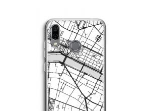 Pon un mapa de ciudad en tu funda para Honor Play