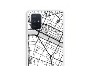 Pon un mapa de ciudad en tu funda para Galaxy A71