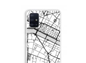 Pon un mapa de ciudad en tu funda para Galaxy A51