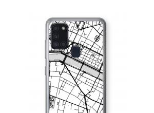 Pon un mapa de ciudad en tu funda para Galaxy A21s