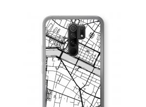 Pon un mapa de ciudad en tu funda para Xiaomi Redmi 9