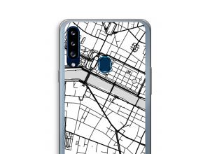 Pon un mapa de ciudad en tu funda para Galaxy A20s