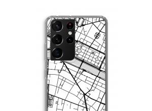 Pon un mapa de ciudad en tu funda para Galaxy S21 Ultra