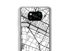 Pon un mapa de ciudad en tu funda para Xiaomi Poco X3 NFC