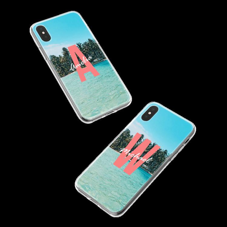 Pon tu monograma en una funda para Huawei Ascend P8 Lite (2017) smartphone